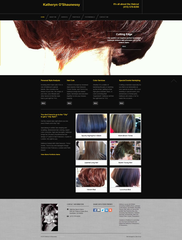 Cutting Edge Hairstylist Site